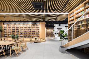 方块元素书店全木头意向图