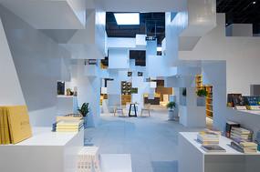 方块元素书店室内意向图