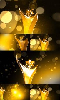 金色奖杯粒子颁奖视频