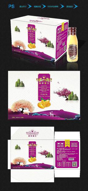 中国风芒果汁饮品包装