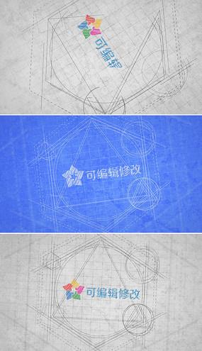 工程蓝图logo演绎ae模板