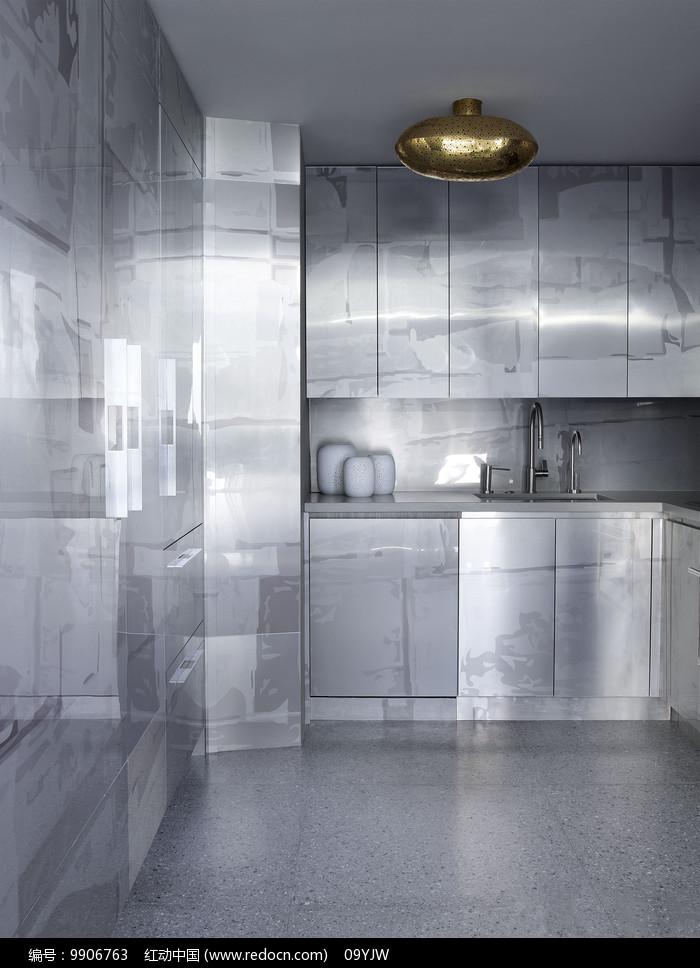 工业风元素家居厨房意向图片
