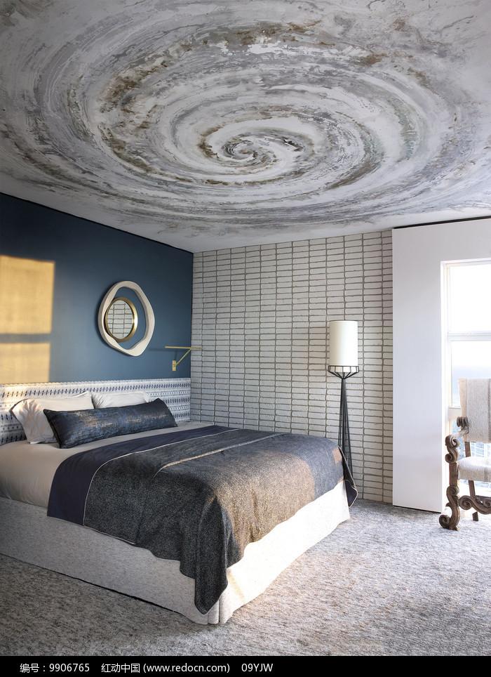 工业风元素家居卧室意向图片