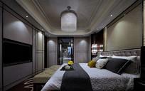 古代风样板间卧室意向