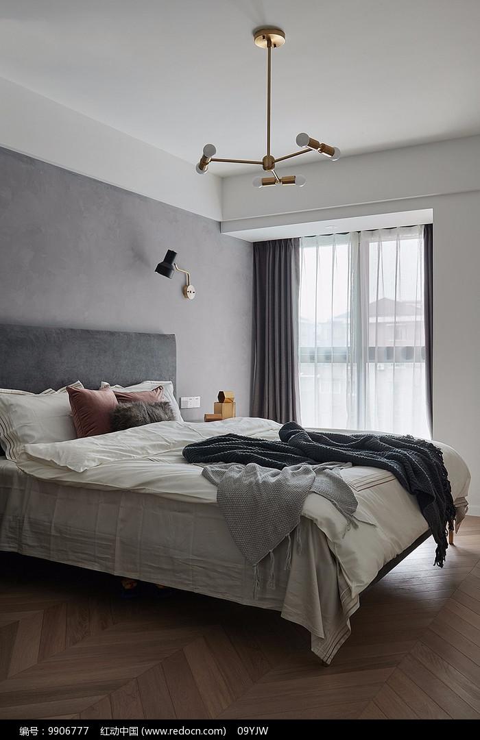 混搭风住宅卧室意向图片