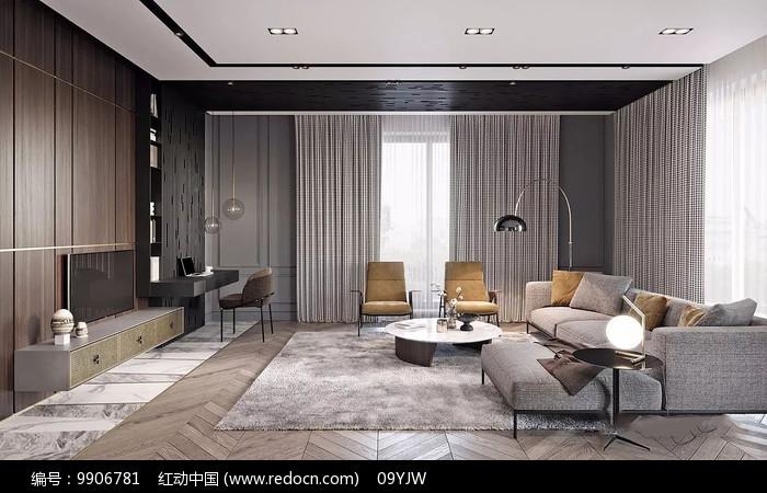 极致奢华家装客厅意向图片