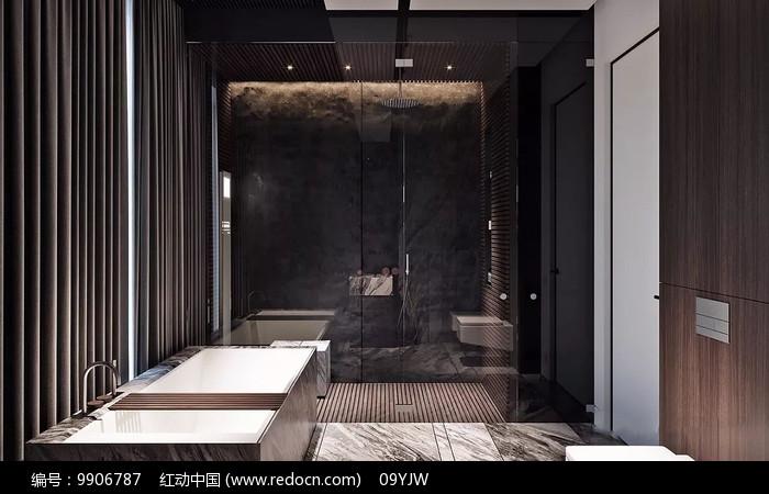 极致奢华家装洗手间意向图片
