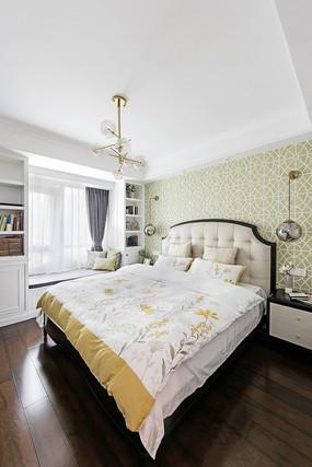 美式轻奢住宅卧室意向