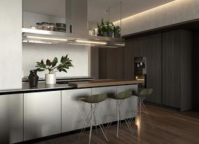 轻奢现代住宅设计餐桌意向