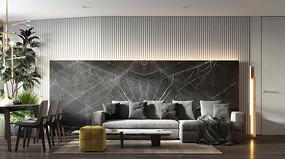 轻奢现代住宅设计客厅意向