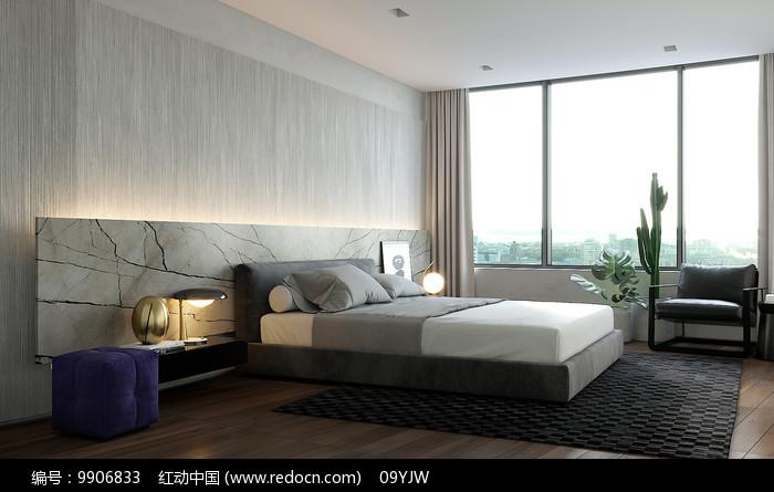 轻奢现代住宅设计卧室意向图片