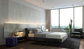 轻奢现代住宅设计卧室意向