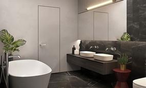轻奢现代住宅设计洗手间意向