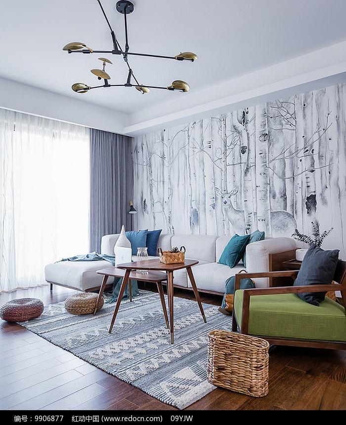 现代风格住宅客厅意向图片
