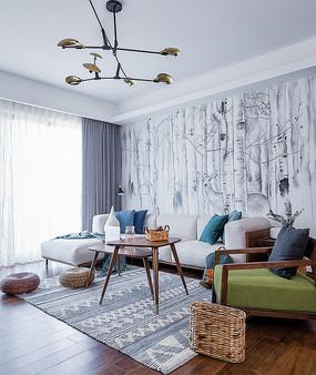 现代风格住宅客厅意向