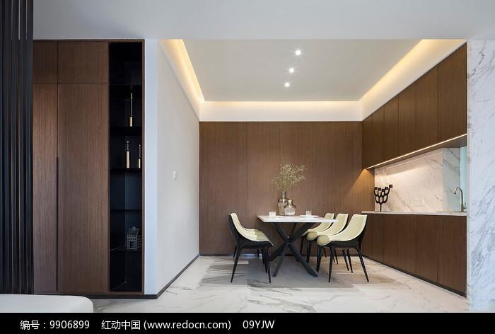 现代简约风格住宅餐厅意向图片
