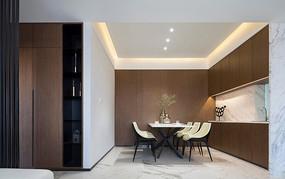 现代简约风格住宅餐厅意向