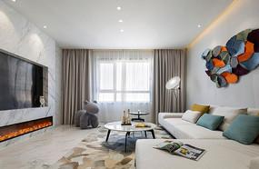 现代简约风格住宅客厅意向