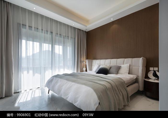 现代简约风格住宅卧室意向图片
