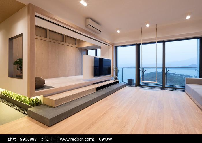 """香港""""庭""""住宅客厅意向图片"""