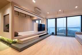 """香港""""庭""""住宅客厅意向"""