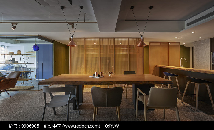 形色住宅空间设计餐厅意向图片