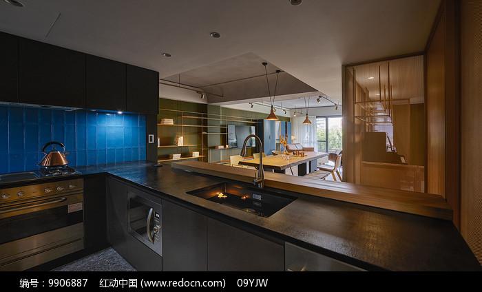 形色住宅空间设计厨房意向图片