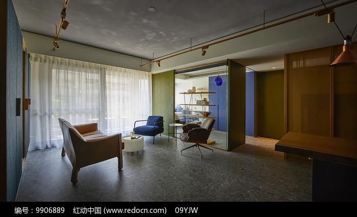 形色住宅空间设计洽谈室意向图片