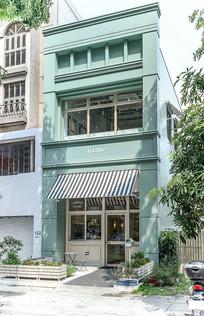 小清新台湾咖啡店建筑意向 JPG