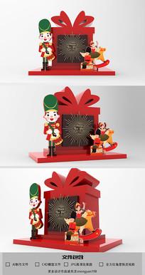 创意礼物盒造型商场新年模型