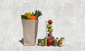 水果与水果罐头模型
