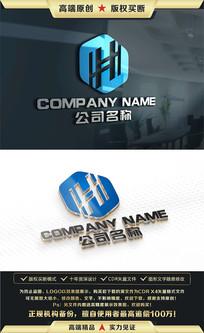 H字母LOGO设计H字母标志