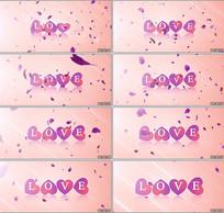 LOVE心形舞台背景视频