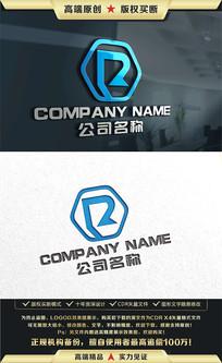 R字母LOGO设计R字母标志 CDR