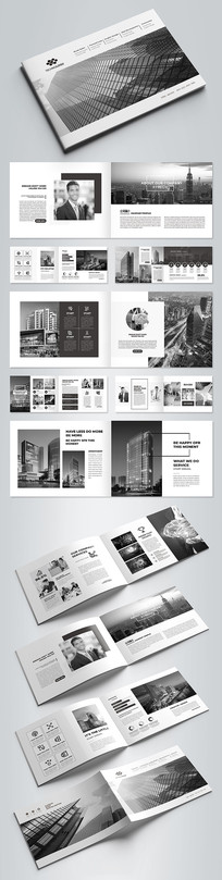 黑色企业形象画册公司画册设计