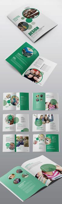 简洁培训教育国际学校宣传画册