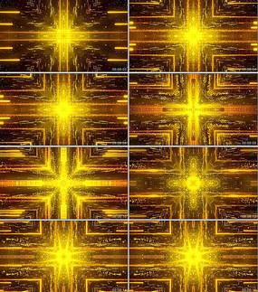 金色粒子光线晚会开场背景视频