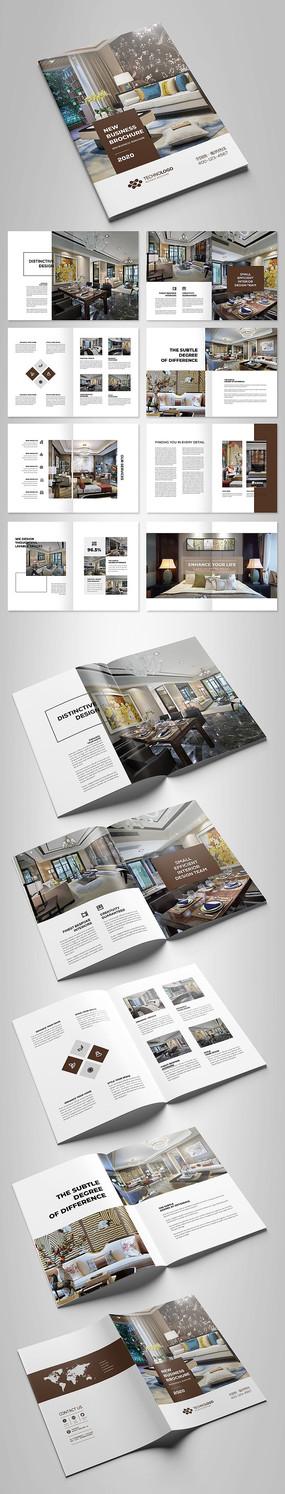 新中式别墅装饰设计家装画册