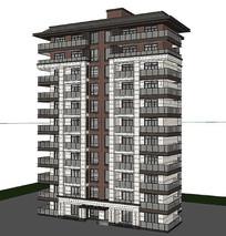 3D小高層建筑模型