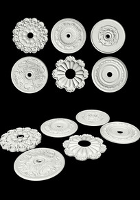 3dmax模型-装璜用花纹