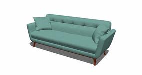 北欧风薄荷绿沙发SU