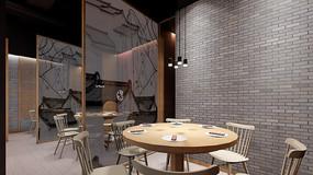 创意古典餐厅包厢效果图