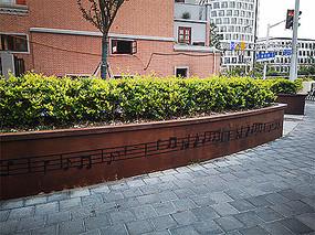 道路绿化景观音符装饰