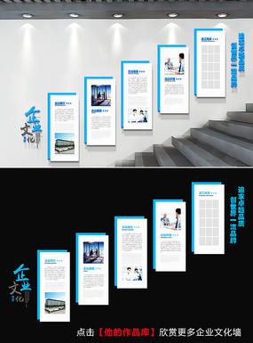 大型企业文化墙楼梯形象墙模板