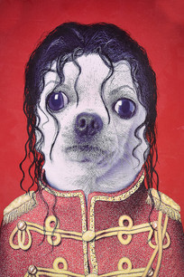 狗狗图无框画