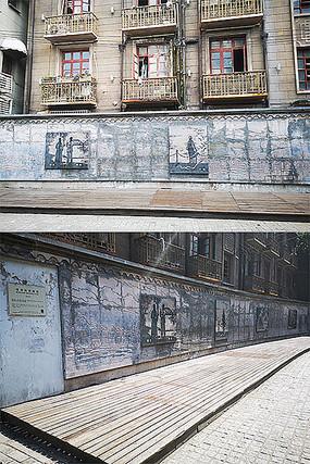 古典式建筑浮雕风景景观墙