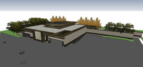 会所建筑SU模型