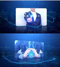 蓝色科技企业宣传AE模板