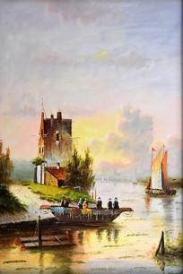 欧式风景油画
