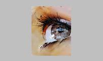 眼睛油画壁画SU